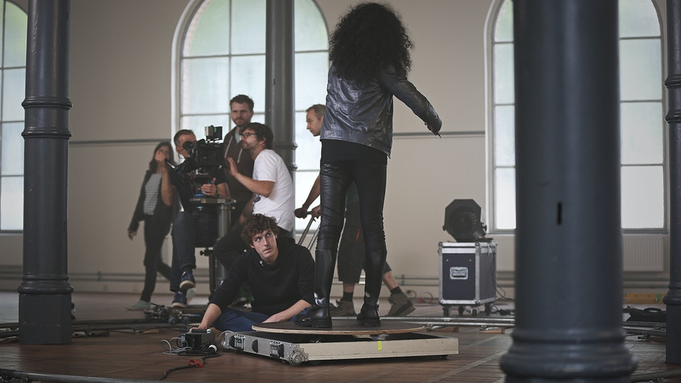 "Songs My Mother Taught Me - Shooting ""Songs My Mother Taught Me"" with Nemanja Radulovic"" (Photo: Bernhard von Hülsen)"