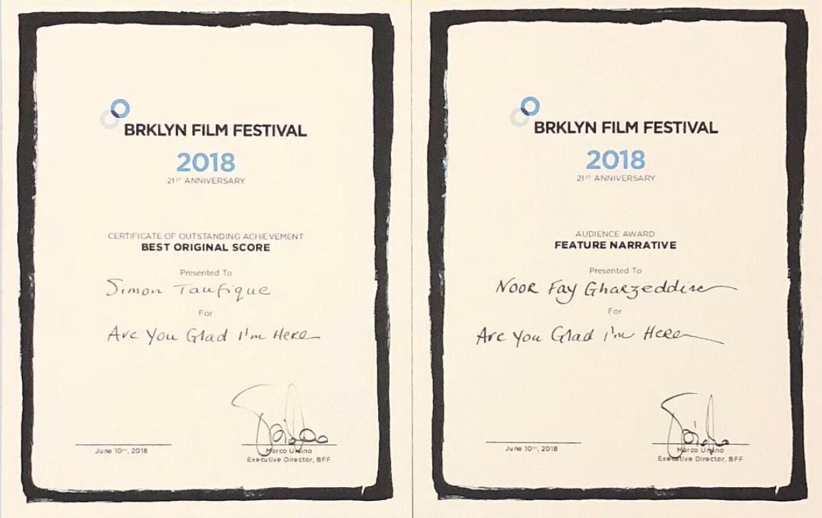 'Are You Glad I'm Here' is a Brooklyn Film Festival winner!