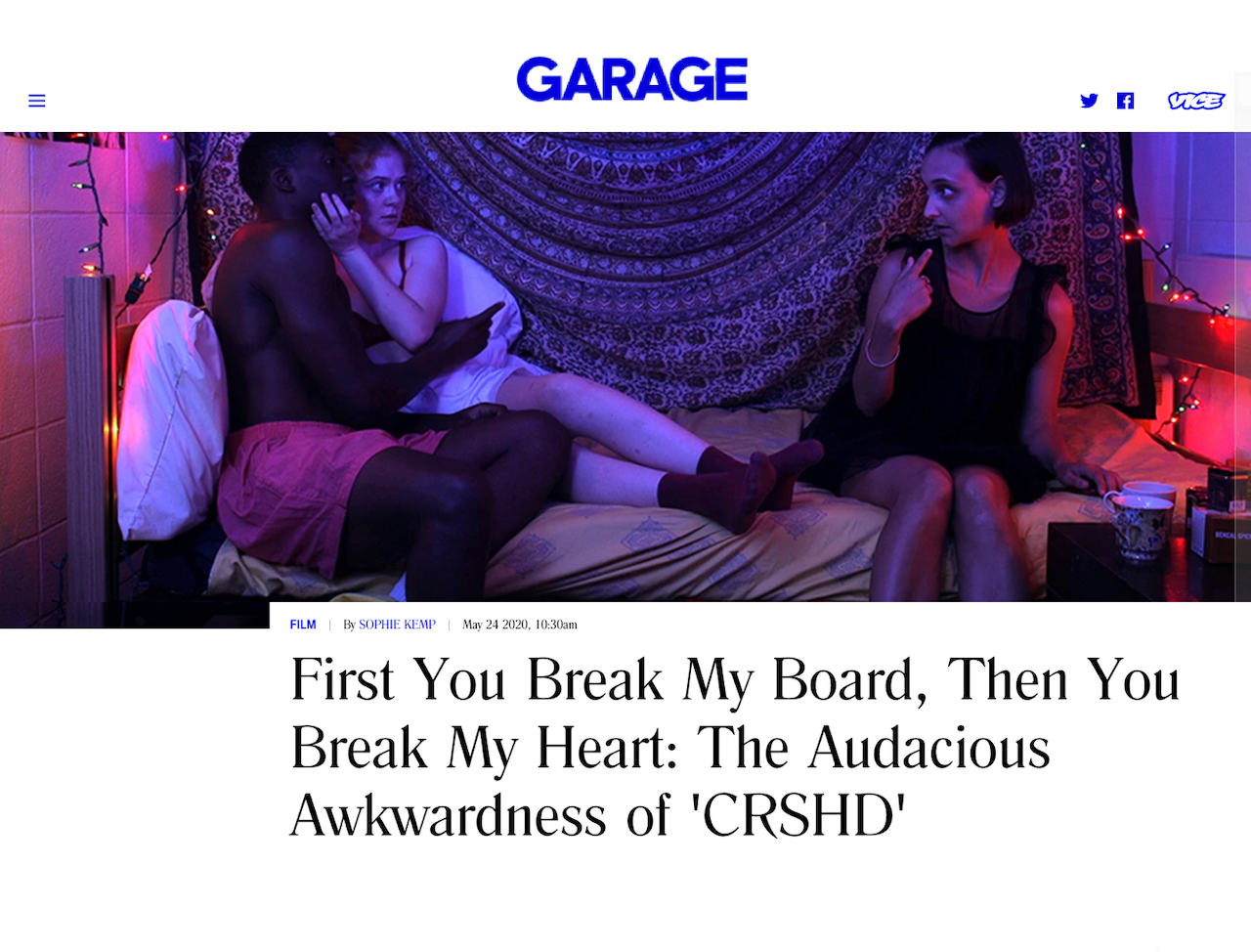 GARAGE speaks with filmmaker Emily Cohn about her debut film, which is now streaming.