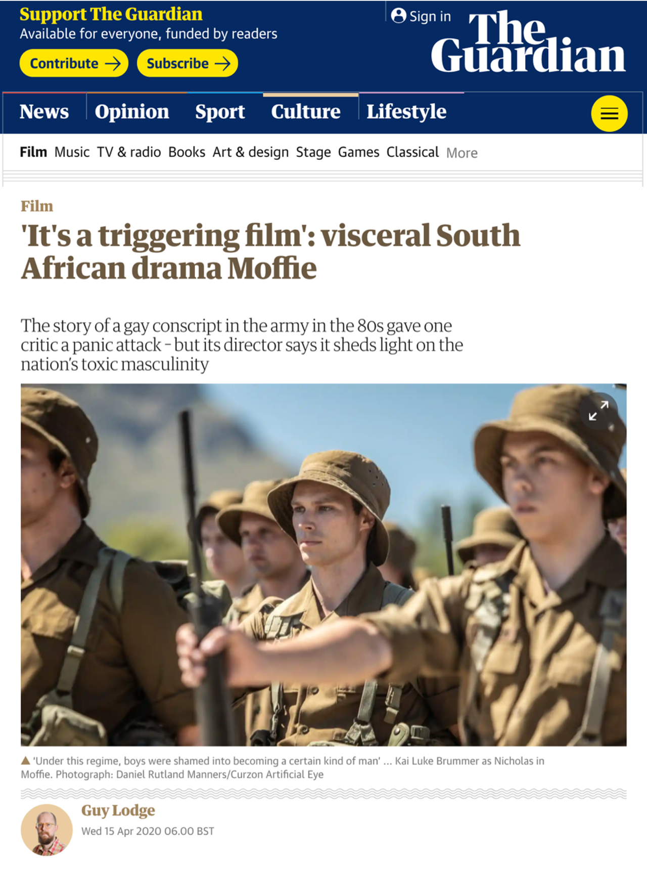 """Oliver Hermanus """"South Africa's most significant auteur in several generations"""" THE GUARDIAN"""