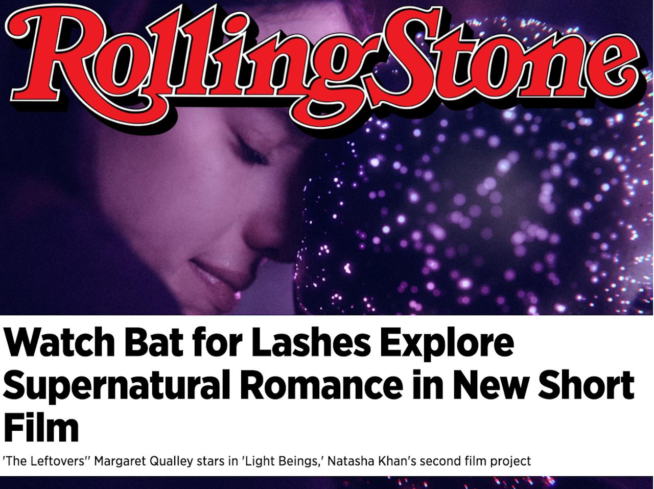 PRESS: 'Light Beings' short by Natasha Khan gets love <3