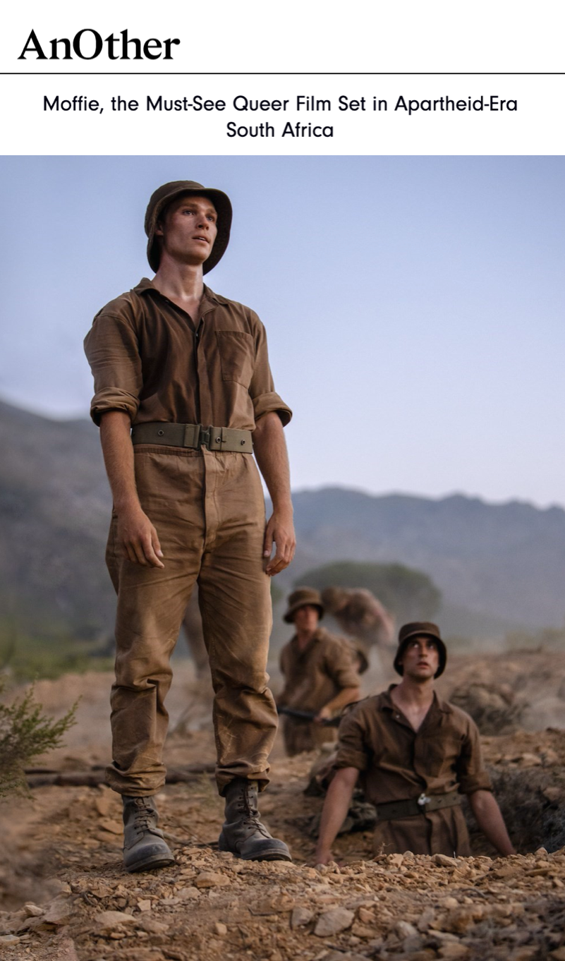 """READ NOW! 'Moffie' is the """"must-see queer film set in apartheid-era South Africa."""" AnOther MAGAZINE⠀⠀"""