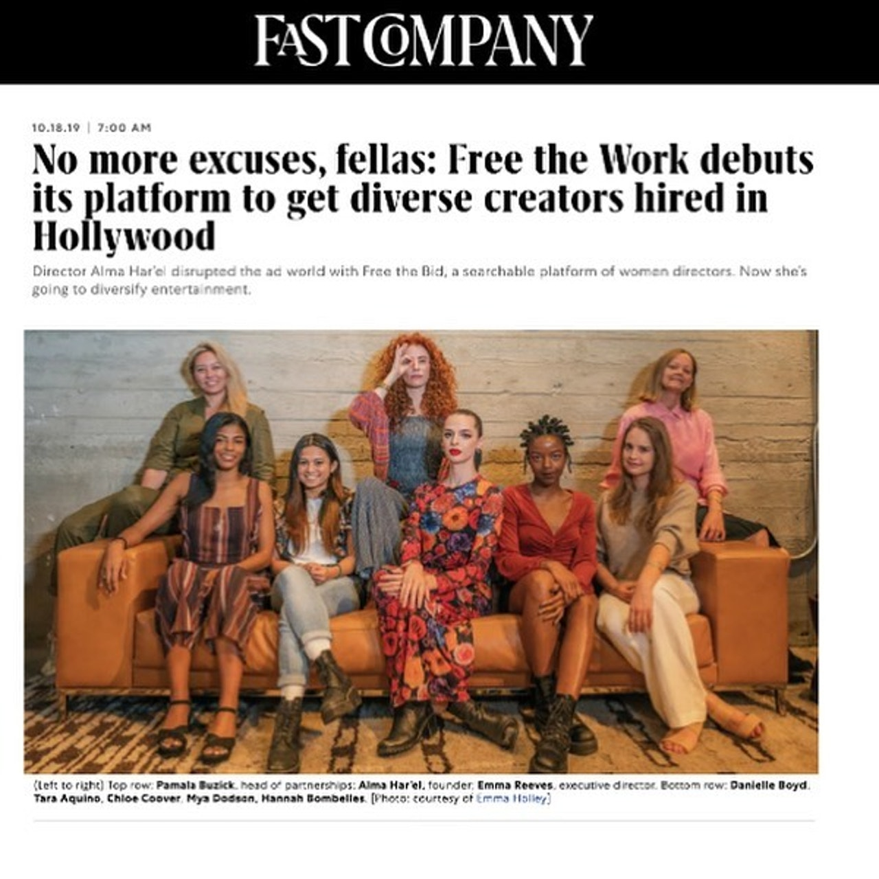 FASTCOMPANY amplifies FREETHEWORK's message: underrepresented creators are here, have always been here, and aren't going anywhere.