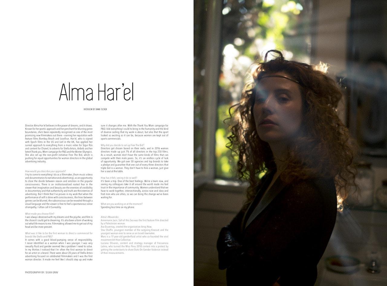 Alma Har'el is a PITCH MAVERICKS cover star!