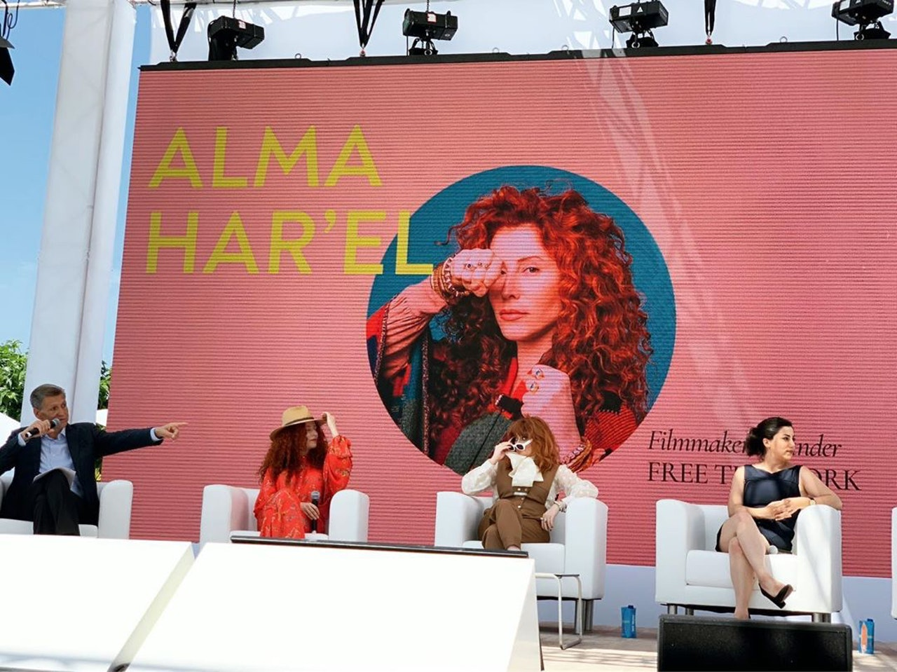 """Alma unveils FREETHEWORK at Cannes Lions with a panel """"Reimagining Creativity through Free The Work""""."""