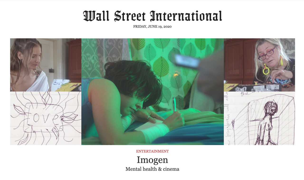 Wall Street International writes about the importance of our short doc 'Imogen'.