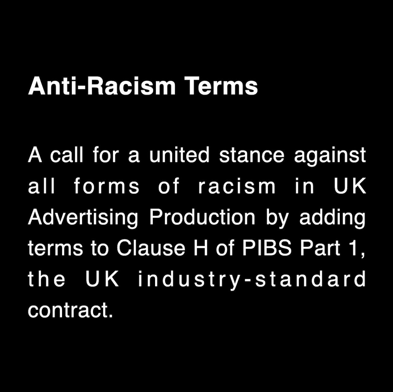 READ our Proposed Anti-Racism terms.