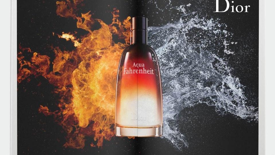 Print Advertising - Dior Aqua Fahrenheit  (Art Director - Remi Paringaux, Producer - James Fuller)