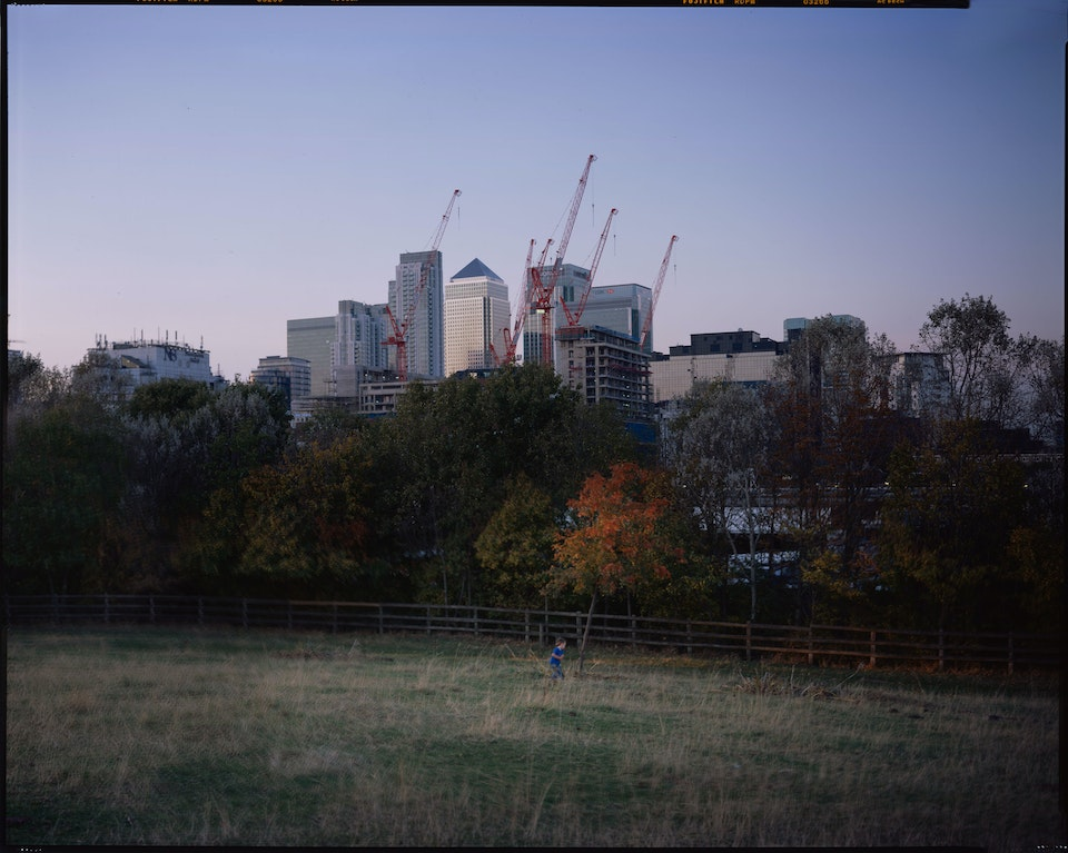 Landscapes: large format film 10x8 and linhof technorama - canary-wharf-kid-web