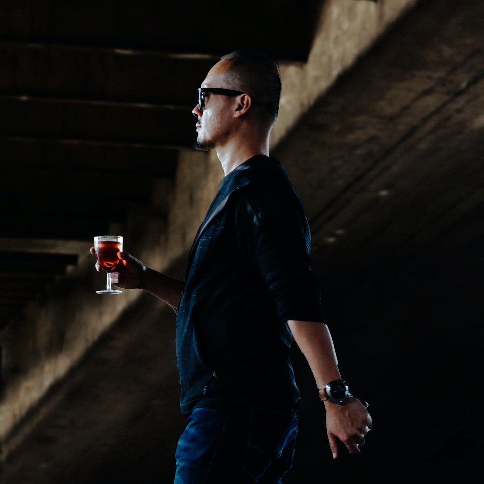 Street Portraits man-with-wine-k25