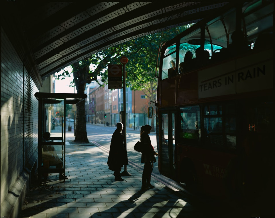 Landscapes: large format film 10x8 and linhof technorama - Bus_Stop3-web