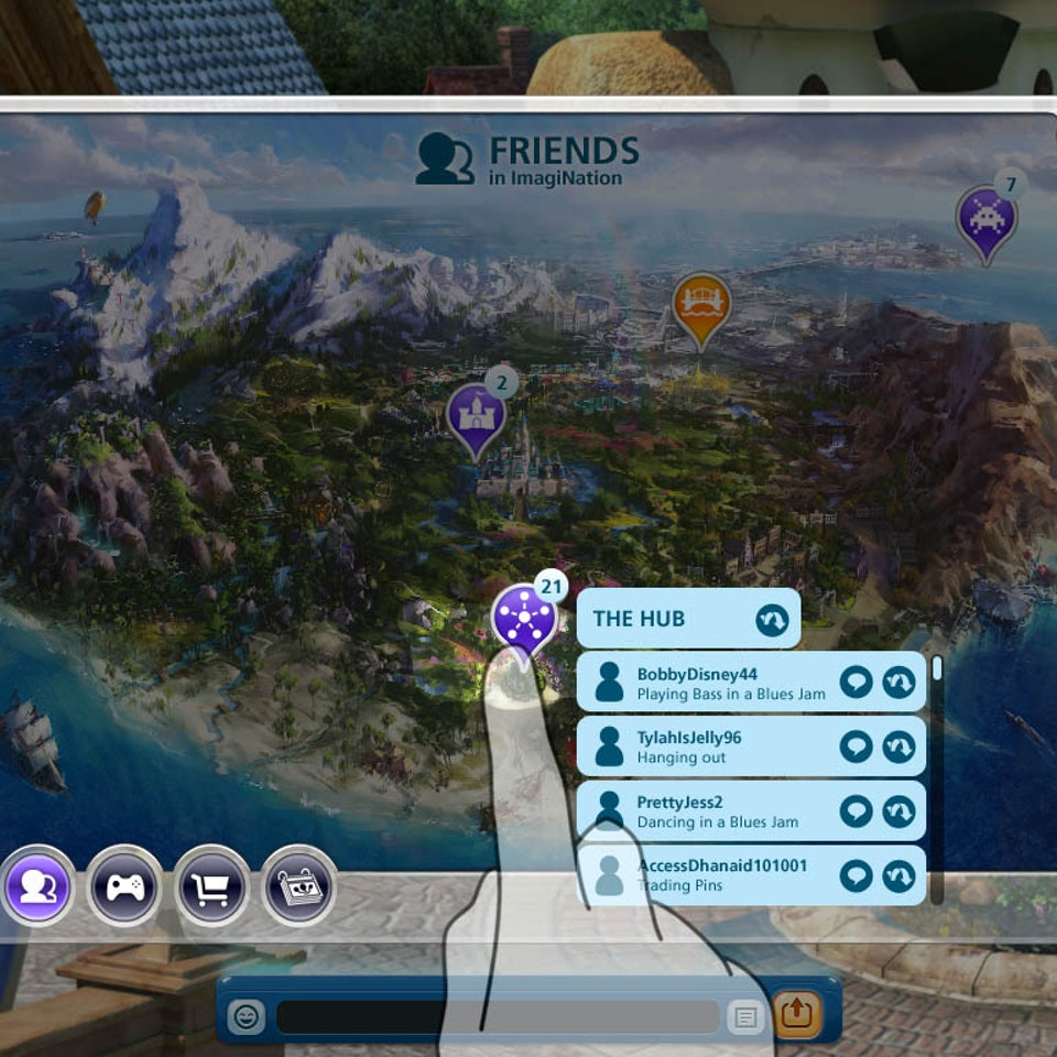 UI and Graphic Design map_02friendsFilter_01overTheHub