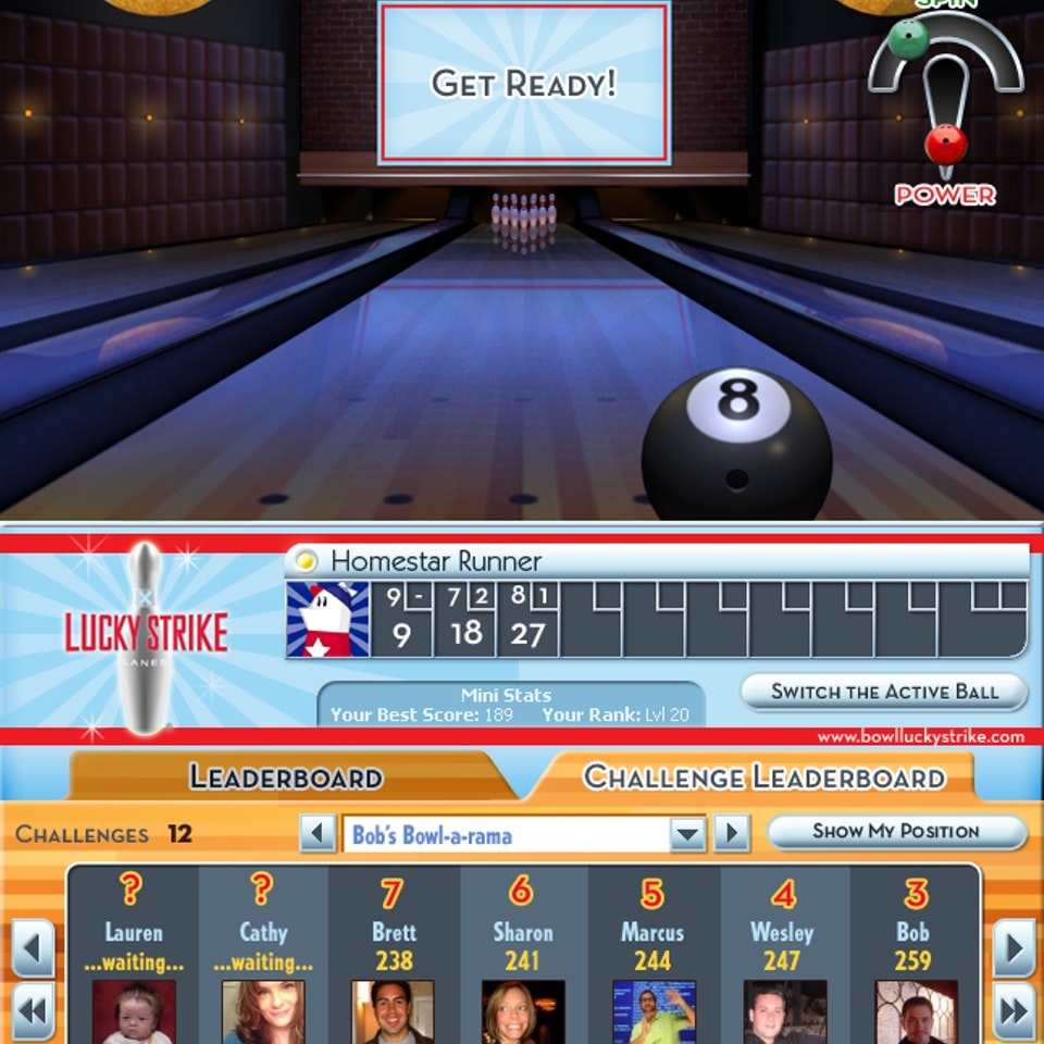 UI and Graphic Design LuckyStrike_02_GamePlay