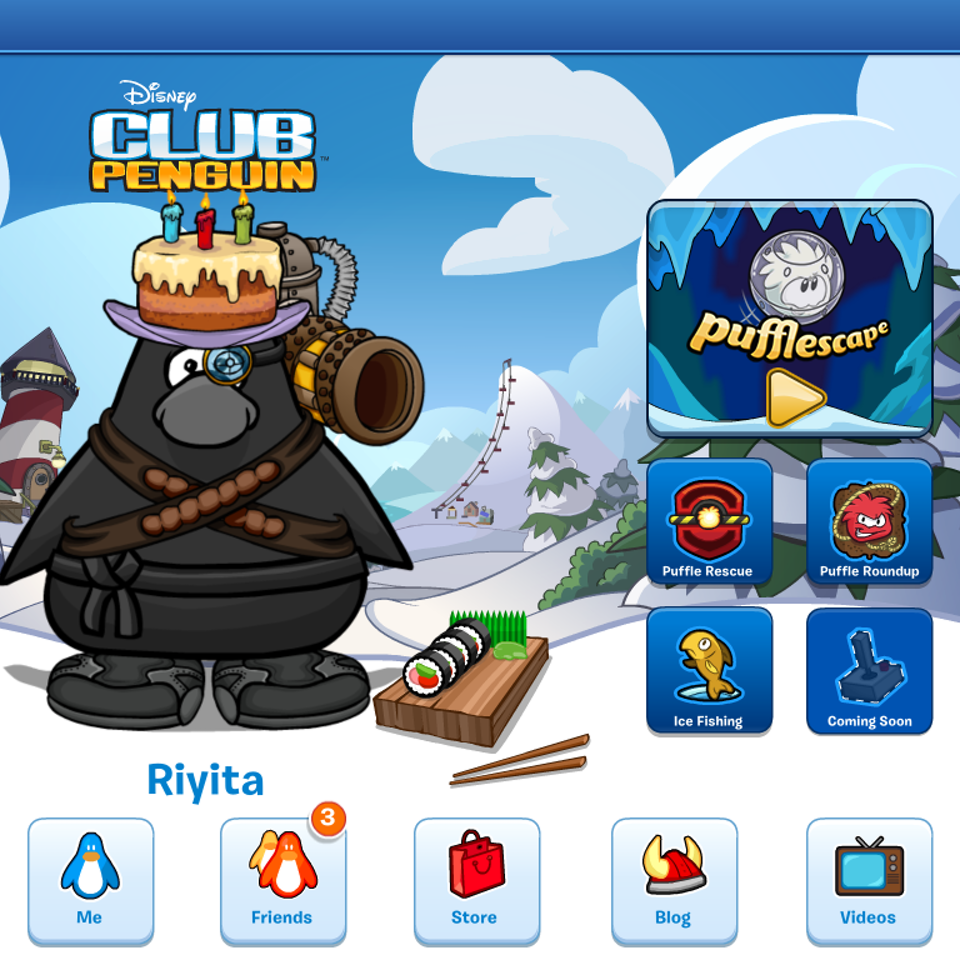 UI and Graphic Design ClubPenguinLandingPage