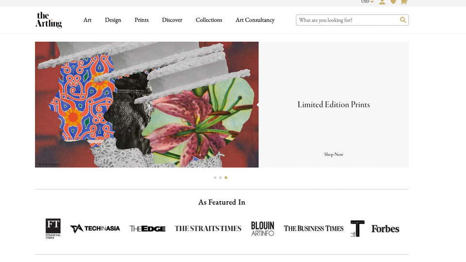 """Selected artworks available on """"the Artling"""""""