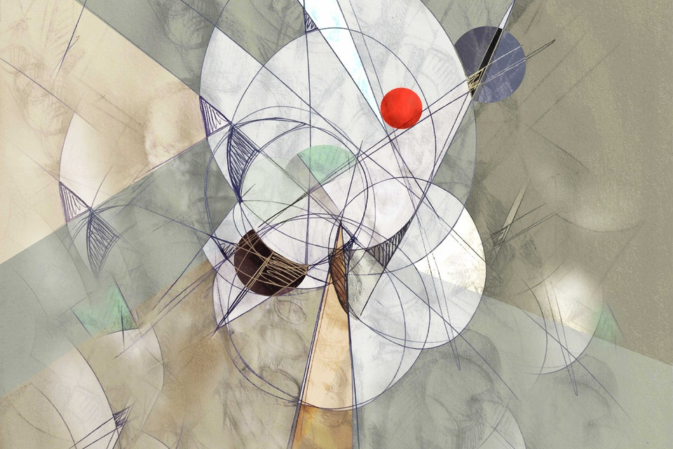 "ABSTRACTIONS - The red dot in the middle of a lot of thought - 2016,  available  as 8,3""x11,7"", 16,5""x23"",  23""x33""  Fine Art print ,  19 copies limited edition on high quality Inkjet paper"