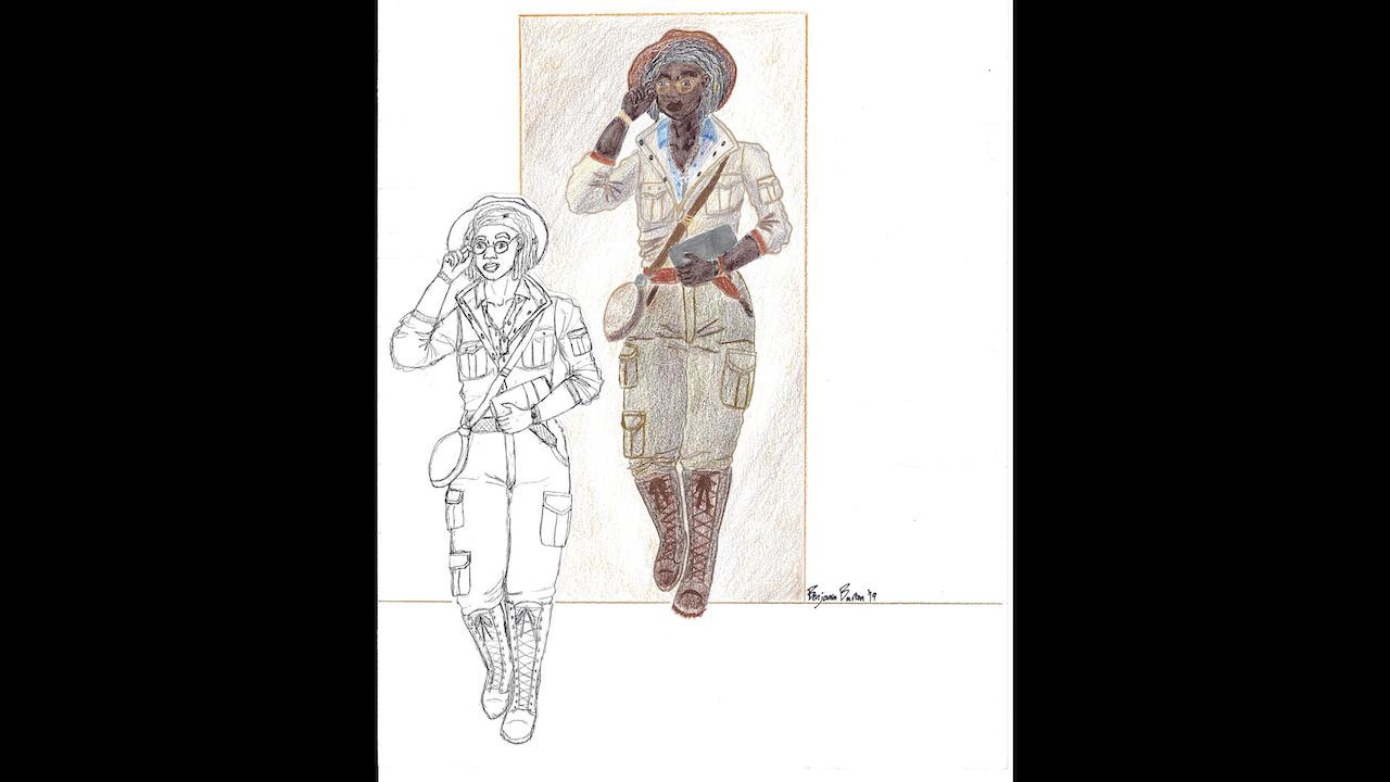 "Rafa Esparza-Inspired Character Design - 11"" x 14"""