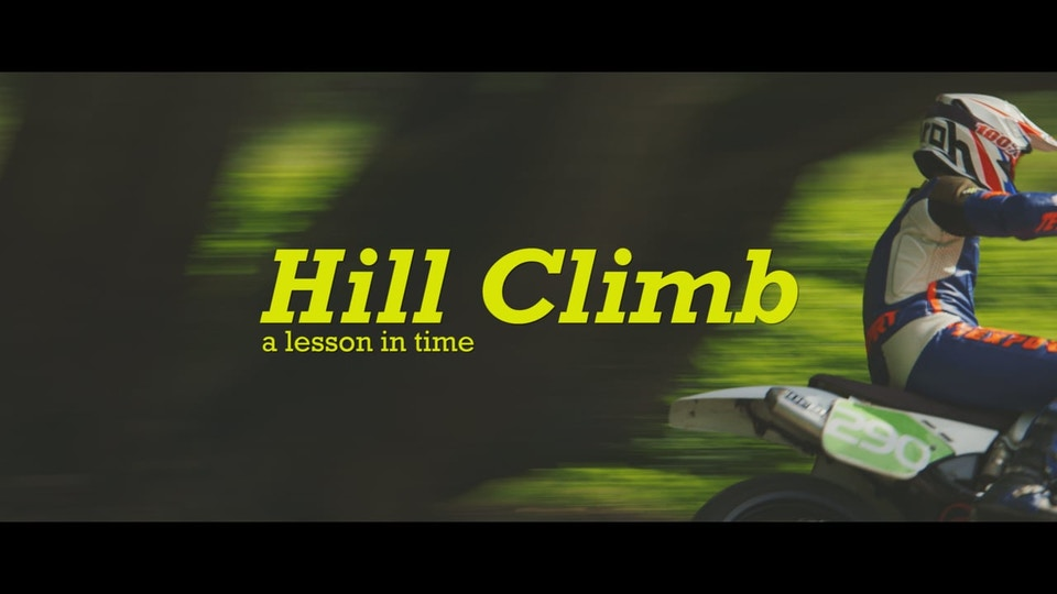 Hill Climb - a lesson in time