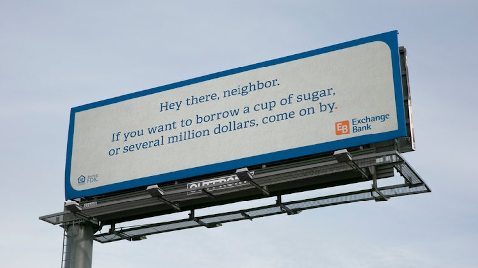 Exchange Bank: #BillBoard