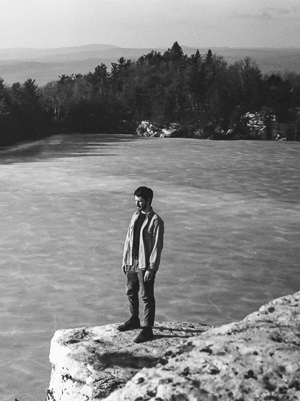 35mm Black and White Film - Lake Minnewaska, Rochester, NY