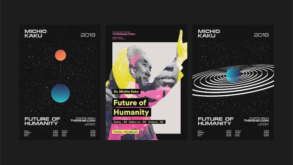 ALDAIN – Content Creator • Design • Sydney - Michio Kaku – Future Of Humanity Posters
