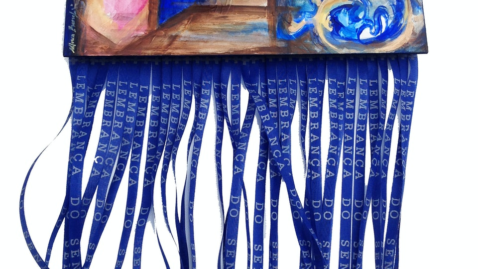 INFINITO  PARTICULAR - Infinity Love .   Mixed Media on Gessobord . 3D . 12 x 48 x 3 in . Private Collection