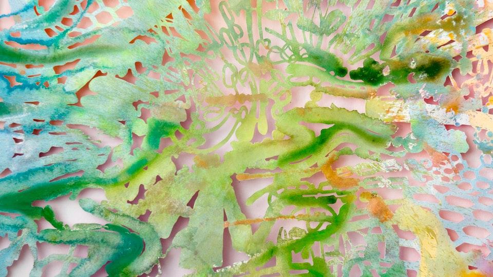 Matrix Nouveau - Matrix Nouveau 1 (detail) | 42x50 | acrylic and glitter on cut paper | 2016 © Chris Natrop