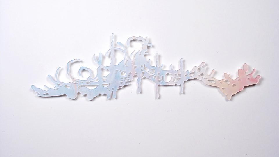 Miami Cloud Machine - Miami Cloud Machine 1 | 48.6 x 14 inches | machined cast acrylic sheet, ultra chrome print | 2009