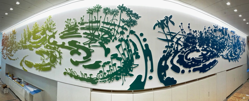 NEW! Permanent Site-Specific Wall Relief Sculpture for Hogan Lovells
