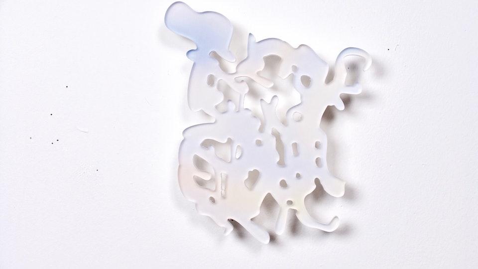 Miami Cloud Machine - Miami Cloud Machine 2 | 7.9 x 7.3 inches | machined cast acrylic sheet, ultra chrome print | 2009