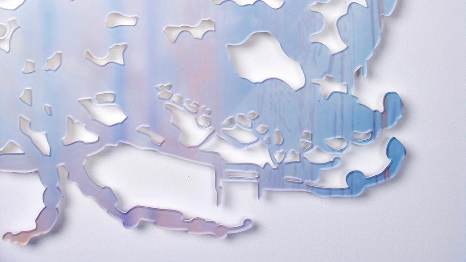 Miami Cloud Machine - Miami Cloud Machine 7 (detail)   34.6 x 33.6 inche   machined cast acrylic sheet, ultra chrome print   2009