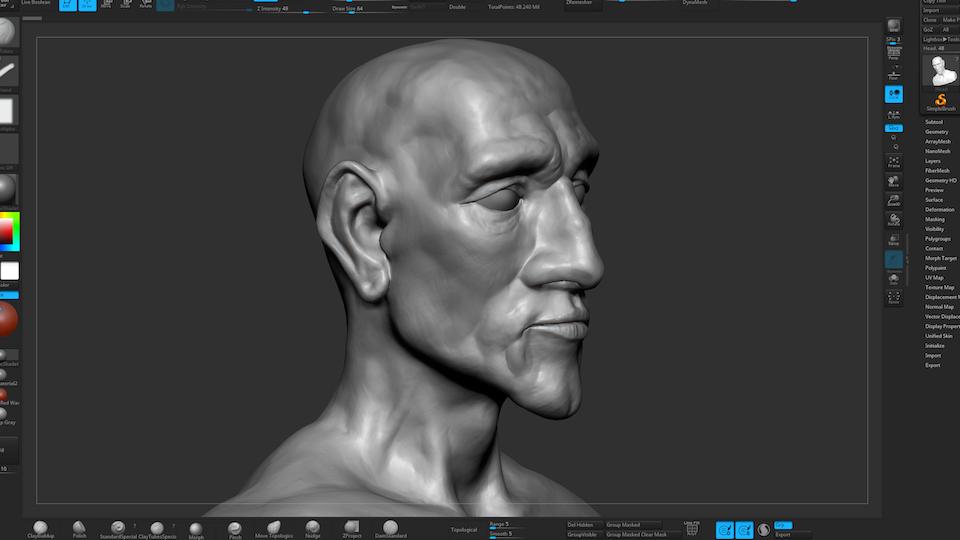 Sketchbook - Work in progress head sculpt
