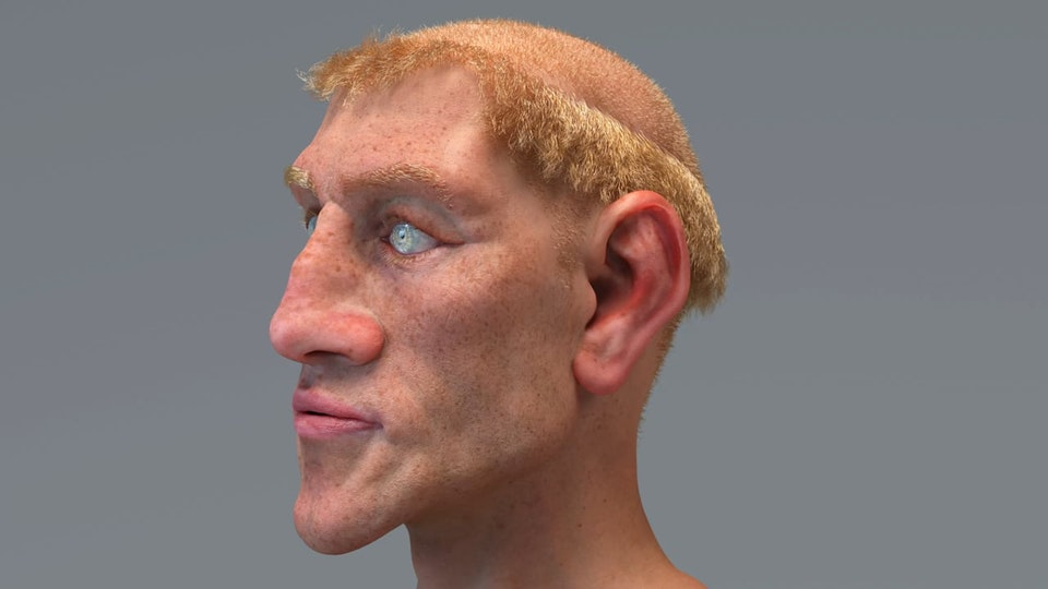 Sketchbook - Test of sculpted, exaggerated face + wrapped scan texture