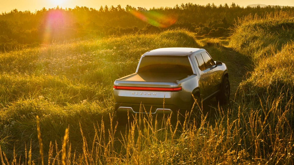 Work for Rivian - CGI Composite - In VRED I rendered out a new rear end end to composite over the original photograph