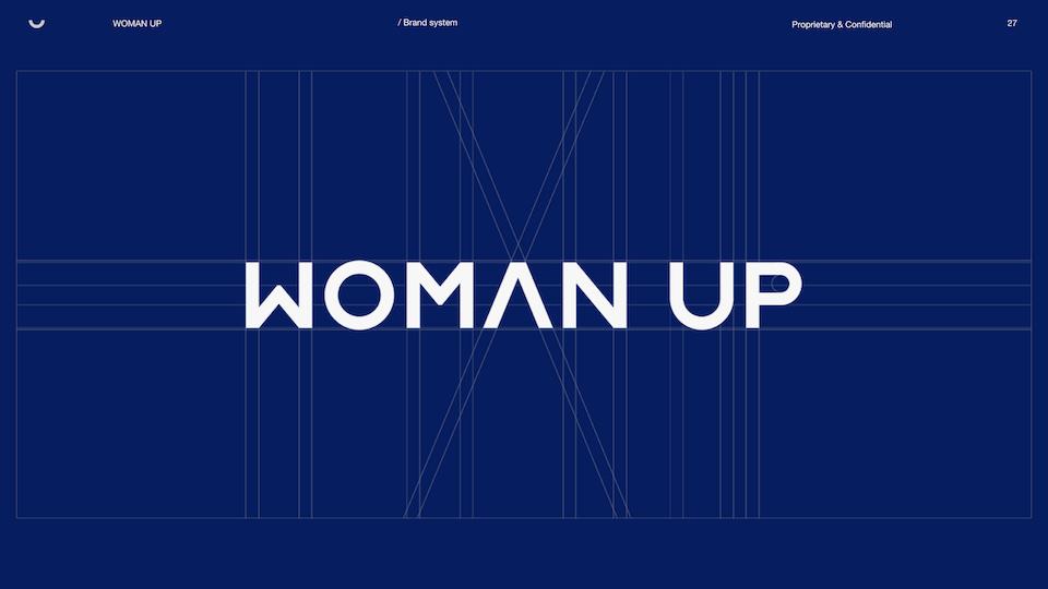 WOMAN UP REBRAND