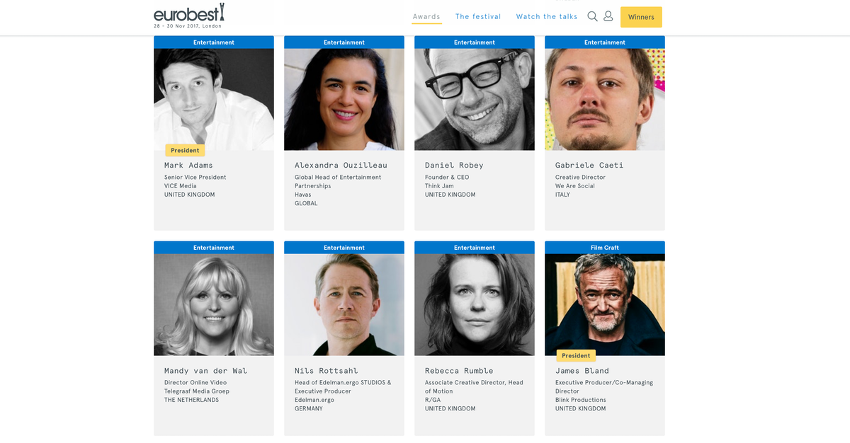 Eurobest jury