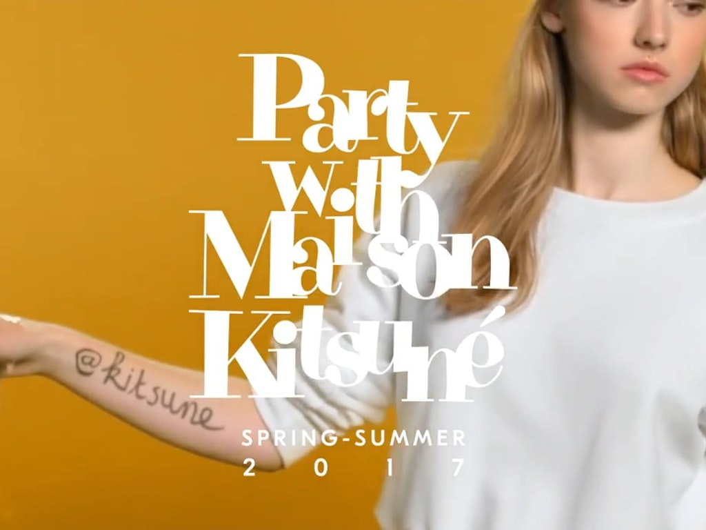 'Party with Maison Kitsuné' - Spring-Summer 2017 Collection