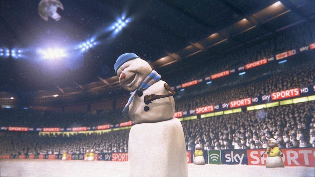 Snowman Christmas Football -