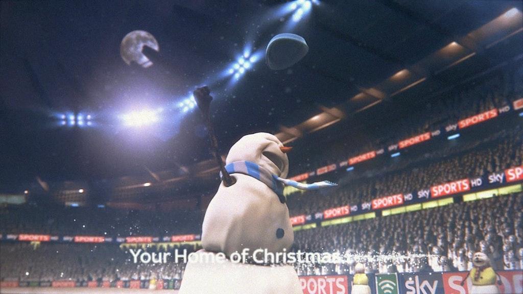Snowman Christmas 2012 Football