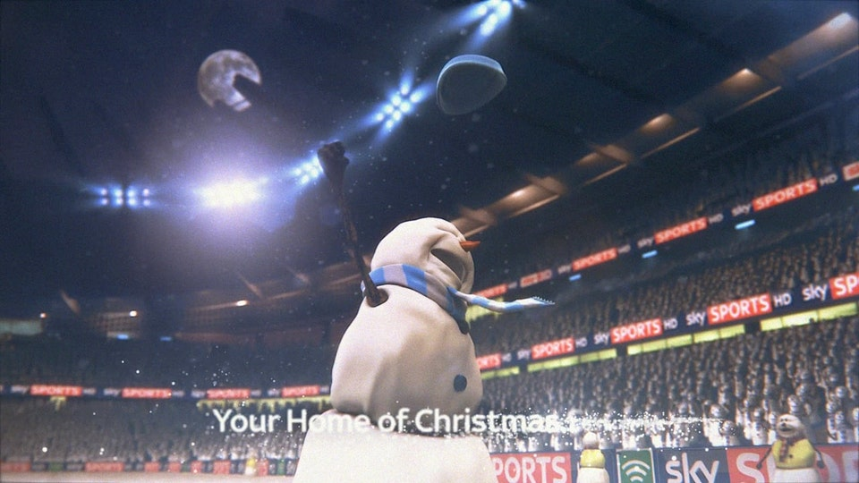 Snowman Christmas Football