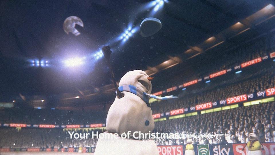 Snowman Christmas 2012 Football -