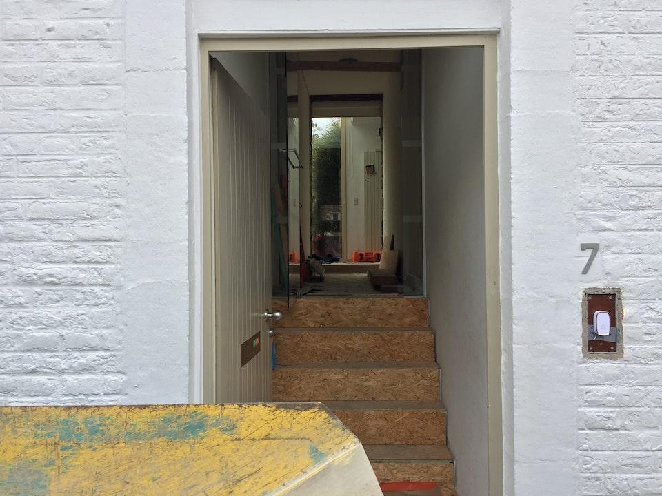 Leuven, verbouwing woning : start uitvoering