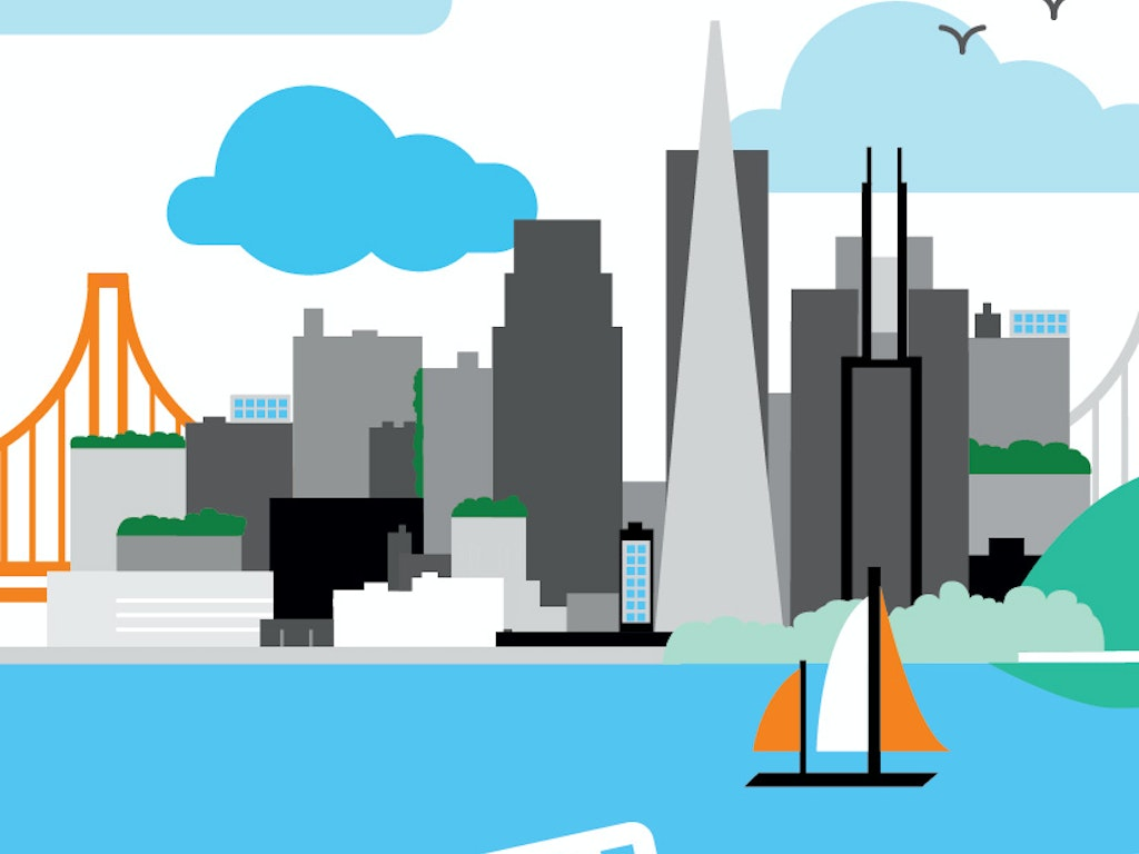 SF Illustration for Orange Silicon Valley