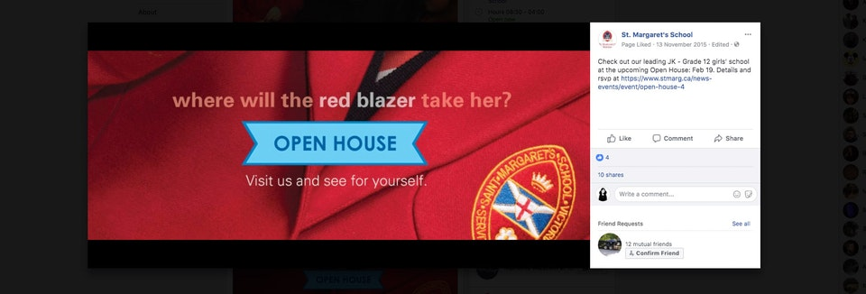 open house social banner -