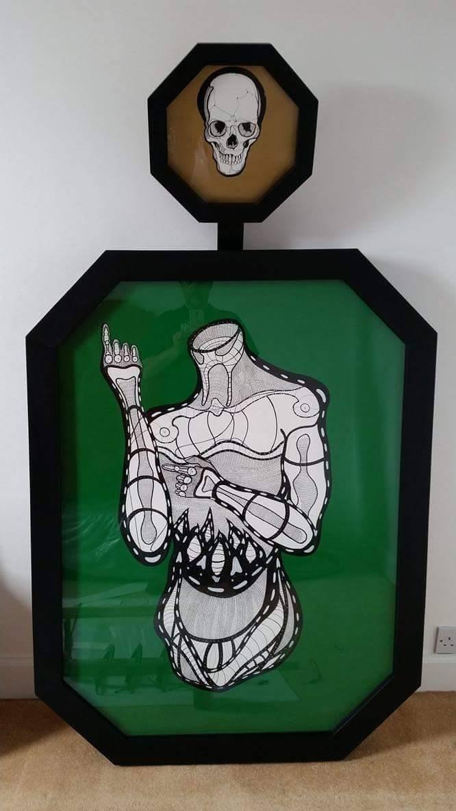"""Memento mori androidica ad vescendum carnes"" (Hexagons) -"
