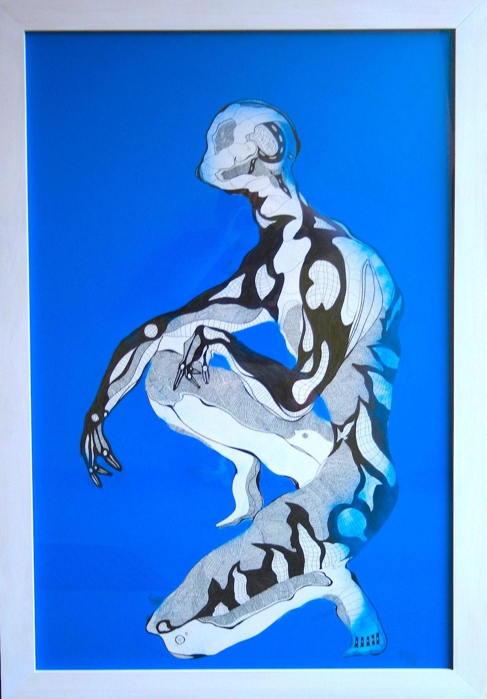 Corpora lente augescent cito extinguuntur ( 90cm x 132cm) Pen and Ink, Graphite, Spray Pain -