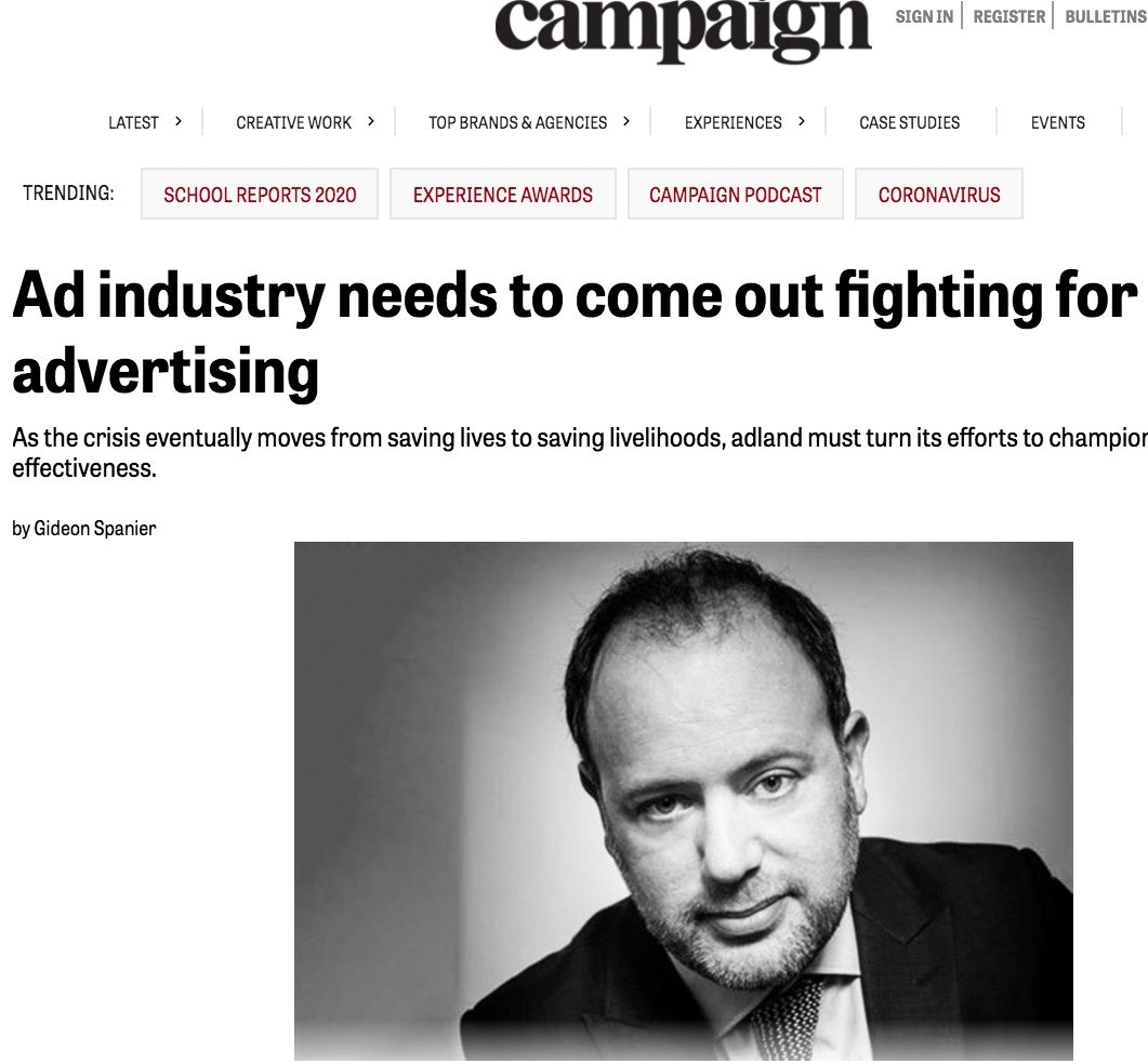 A rallying cry for everyone in advertising.
