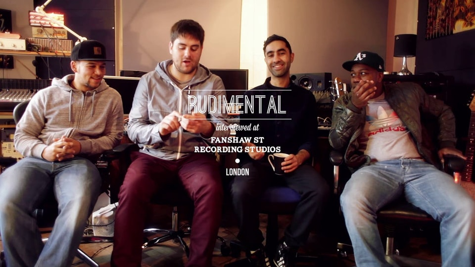 RUDIMENTAL interview at Fashiaw St Recording Studios