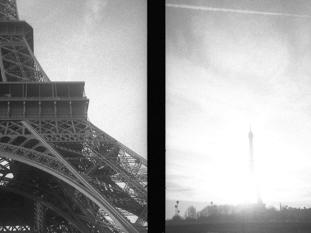 eiffel tower and flare