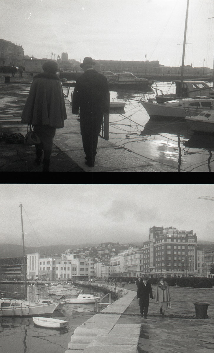 couple walking trieste